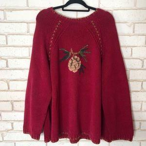 Coldwater Creek Pretty Winter Sweater Sz 3X